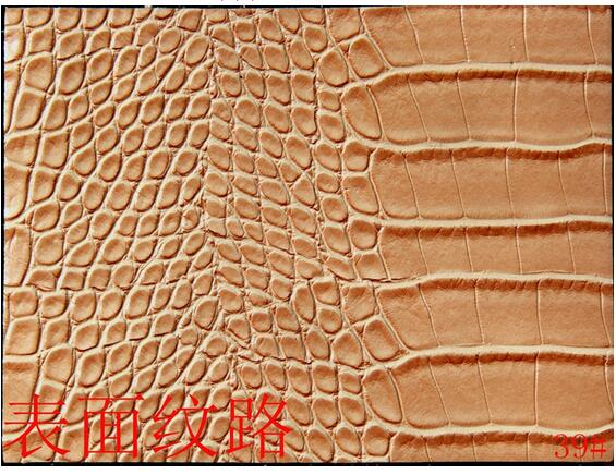 Faux BRICOLAGE pu cuir synthétique tissu matériel, crocodile imprimé pu deri, synthétique en cuir tela para muebles, 1210029