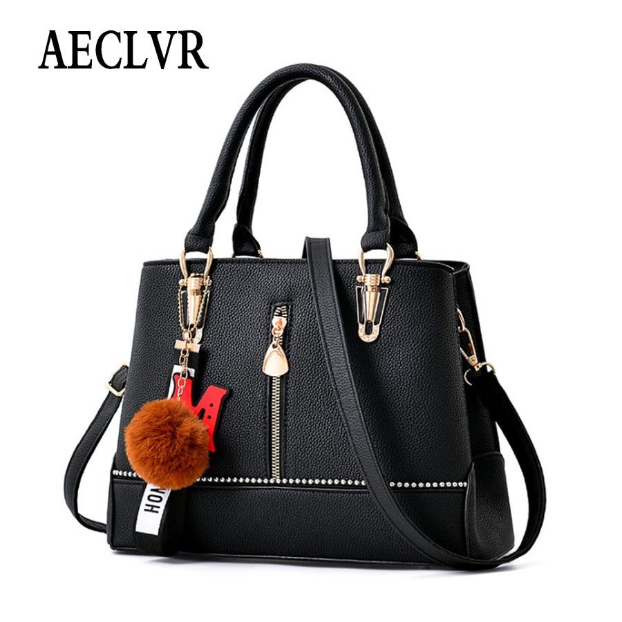 AECLVR Brand Fashion Female Shoulder Bag PU Leather women handbag casual Messenger Bag  classic Crossbody Bags Women Bag bolsas