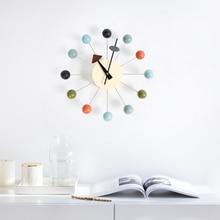 New Fashion Clock Popular Designer Beautiful Modern Luxury House Decorative Diy Wood Balls Wall Rain Candy Easy