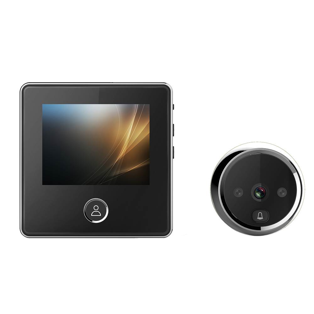 HD Video Peephole Security Visual Doorbell LCD Screen Intelligent Electronic Cat Eyes with 3MP IR Night Vision Cameras