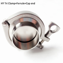 """2.5""""  3"""" 4"""" Stainless Steel Pipe ClampS Weld Ferrule+End Cap+ Sillicon Gasket Pipe Fitting"""