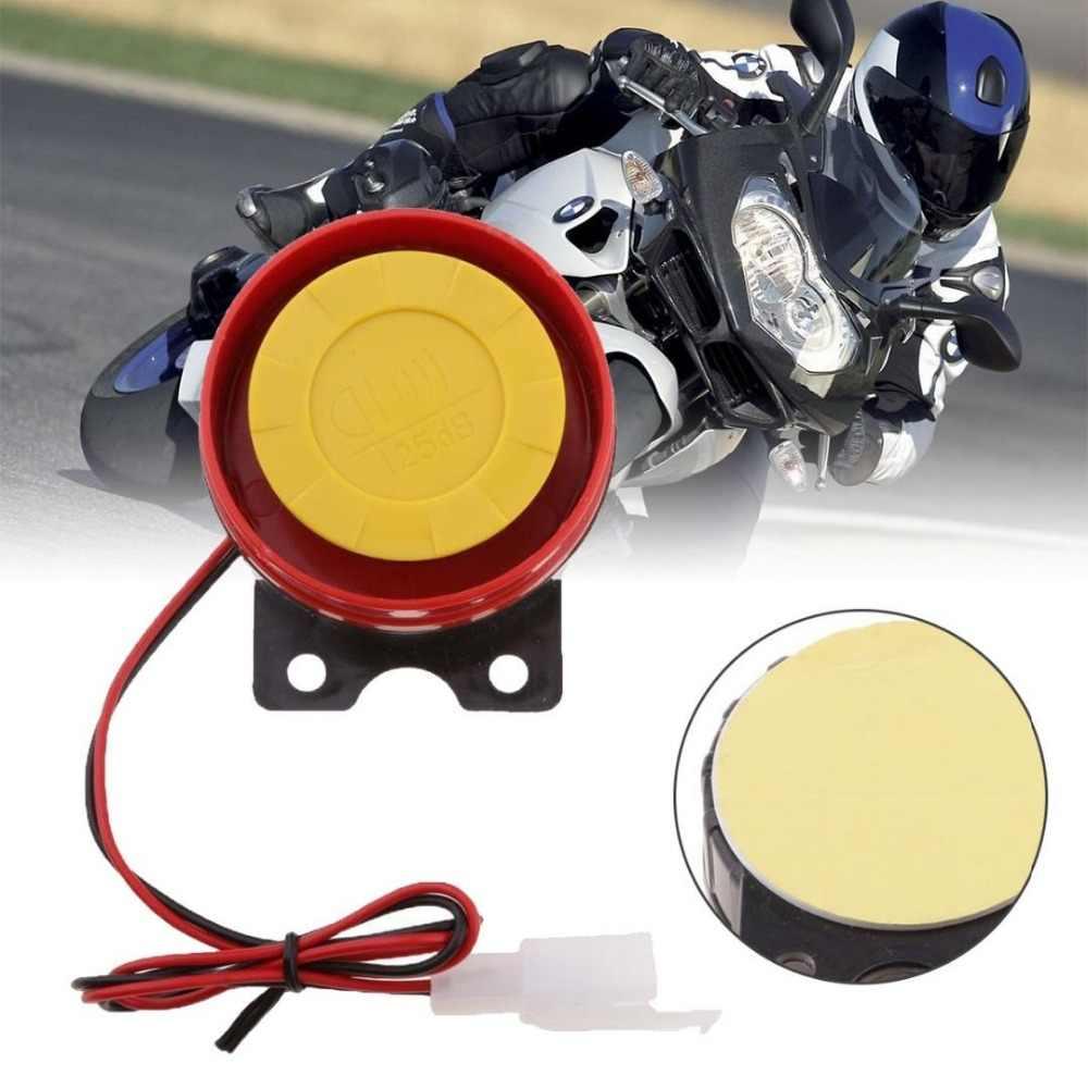 Merah 12 V Mobil Sepeda Motor Keamanan Sistem Kontrol Alarm Truk Motor ATV RAID Siren Kecil Tanduk Listrik Alarm Remote