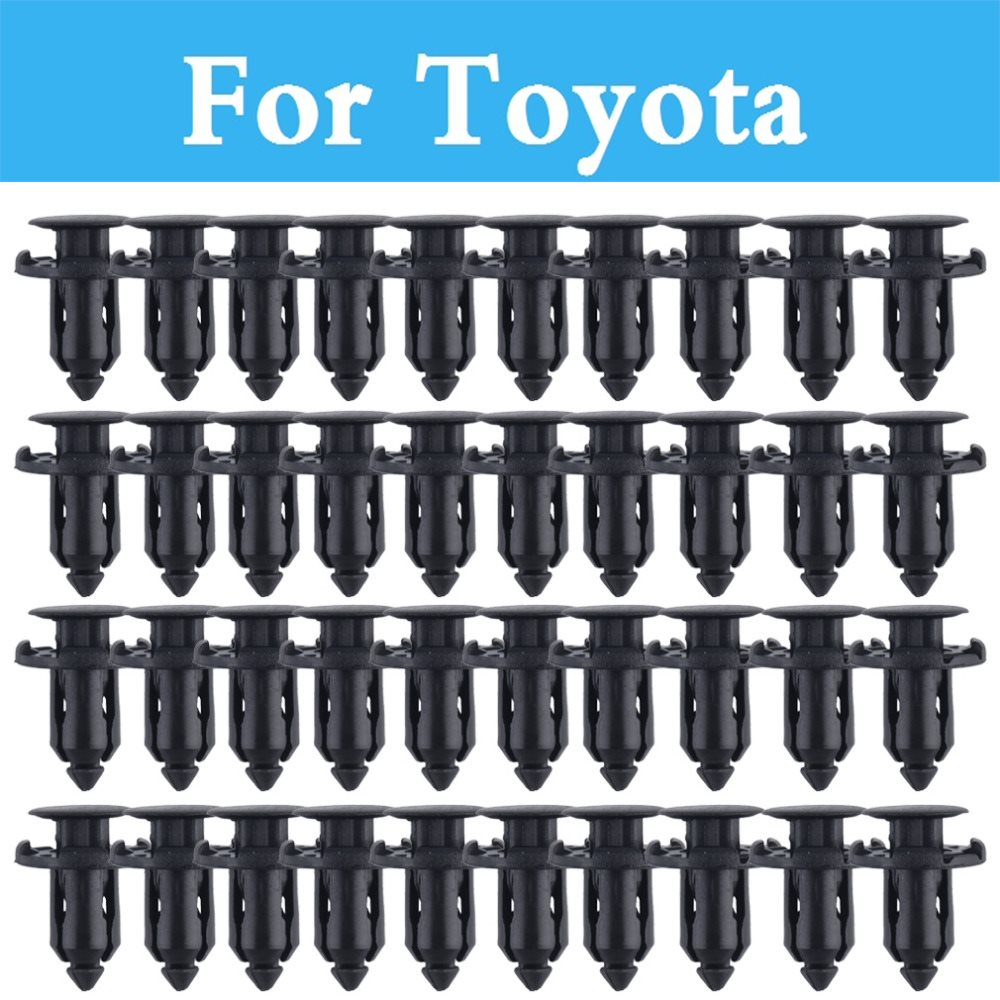 цена 50pcs 9mm Plastic Screw Rivet Push Fit Panel Trim Clips For Toyota Rav 4 Rush Sai Prius Prius C Probox Progres Pronard