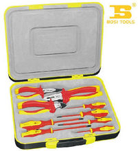 Bosi Tool Yellow and Red 9 Pcs VDE Insulation Tools with Plastic Shell