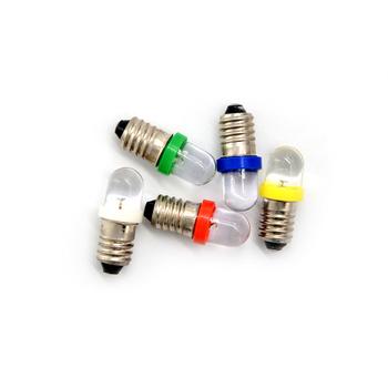 5 sztuk partia biały 6V 12V 24V DC żarówka niski pobór mocy E10 LED śruba baza wskaźnik żarówka zimno tanie i dobre opinie HELTC CN (pochodzenie) ROHS Salon led indicator bulb 30000 other Bubble ball żarówki 180 °
