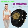 Moda Amantes Casuais Mulheres Digital LED Sports Relógio De Pulso S Choque Ourdoor Clássico Cronógrafo eletrônico Natação Relógios À Prova D' Água