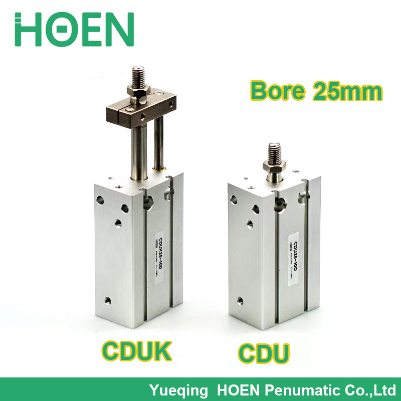 CDUK25-25D SMC type Double Acting Non-rotating Rod Type bore 25mm stroke 25mm Free Mount Cylinder Single Rod CUK25-25D enya eus 25d