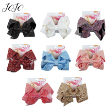 JOJO BOWS 1pc DIY Craft Supplies Sparkly Chunky Glitter Hair Bows Bling Headwear Clip For Kid Handmade Boutique Accessories
