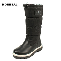 Winter Girls Botas Children Shoes For Girl Boy Boots Water Proof Oxford Cloth Kids Snow Boots