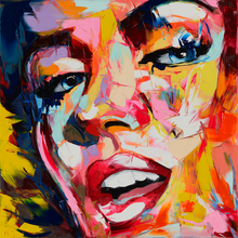 Nielly Francoise Designer Abstract Hand Painted Knife Palette Picture Home Decoration Living Room Oil Painting Canvens Cool Face
