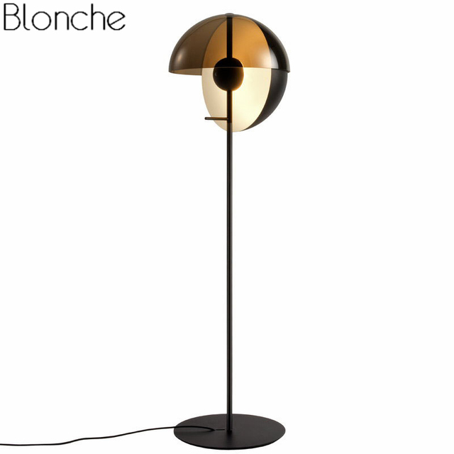 Modern Stand Floor Lamp Led Ball Standing Lights For Living Room Bedroom  Nordic Design Glass Light