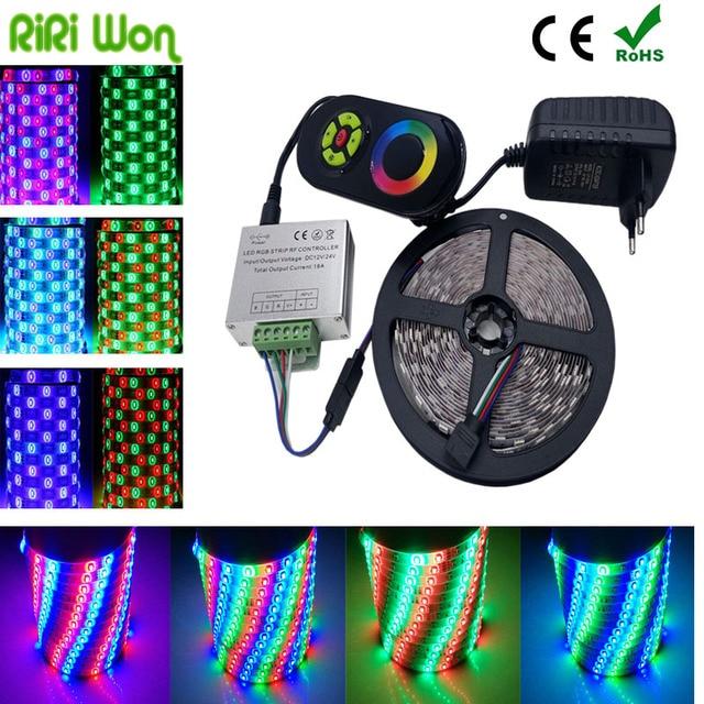 20M 15M 5M 3528 2835 RGB LED Strip Light  SMD Flexible 10M  LED Tape Lights+18A Wireless Touch  Controller RiRi Won