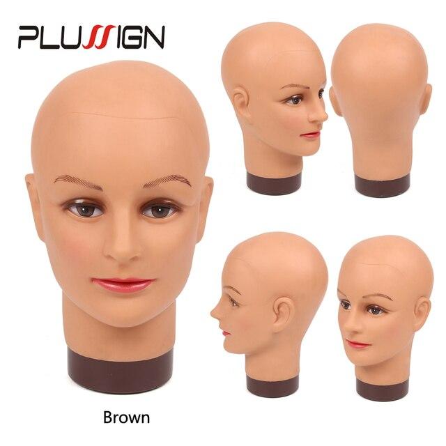 Plussign Keine Haar Glatze Mannequin Kopf Für Hüte Perücken Wimpern Schmuck Maske Massage Für Verkauf