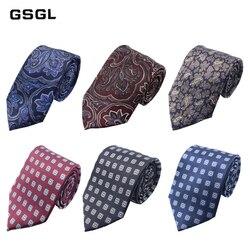 Мужской Шелковый галстук, 100% натуральный, роскошный, с цветочным узором, Пейсли, классический, Деловой, Повседневный, 8 см