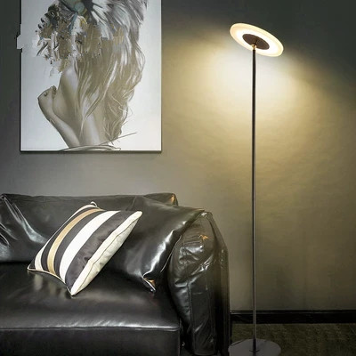 Modern LED Torchiere Floor Lamp para Sala de estar Quarto luminária dispositivo elétrico da lâmpada da lâmpada de Iluminação Do Escritório Permanente Estado de altura Vertical