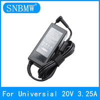 20V 3.25A Universal Power Adaptor for Laptops AC 100-240V DC 5.5 mm X 2.5mm CE RoHS FCC CCC CNAS Certification Free Shipping