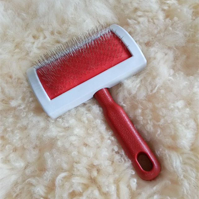Mini Sheepskin Rug Brush and Cleaner Fine Wire Carpets Brush Brushing Sheep skin Rug for home living room