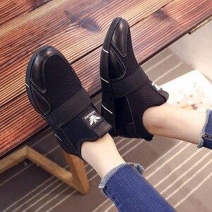 Image 4 - Zapatillas de plataforma para mujer, zapatos vulcanizados a la moda, zapatillas de verano para mujer, zapatos de cuña transpirables, zapatillas planas de baloncesto para mujer 2020