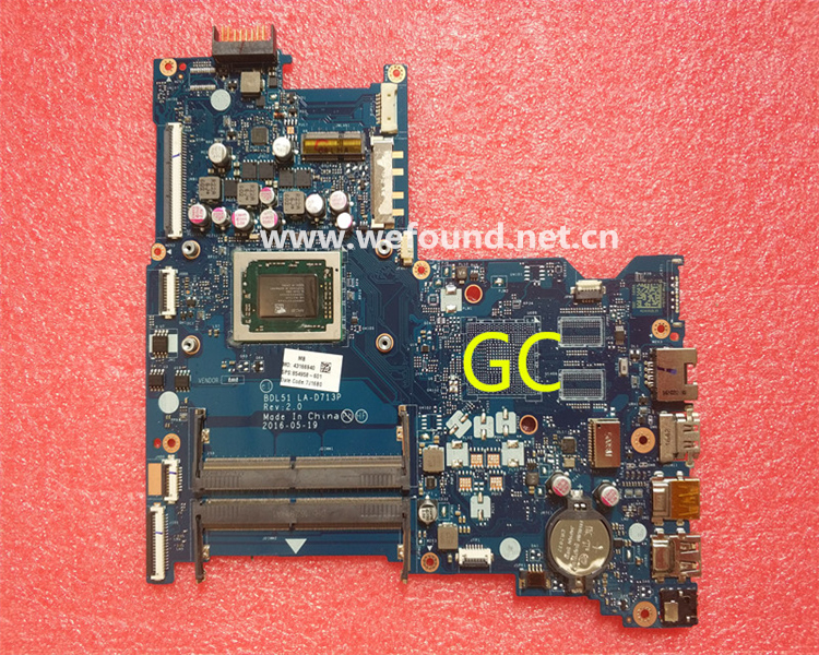 laptop Motherboard For 15-BA LA-D713P 854958-601 system mainboard Fully Tested цена