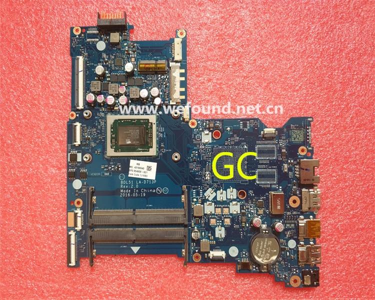 laptop Motherboard For 15-BA LA-D713P 854958-601 system mainboard Fully Testedlaptop Motherboard For 15-BA LA-D713P 854958-601 system mainboard Fully Tested