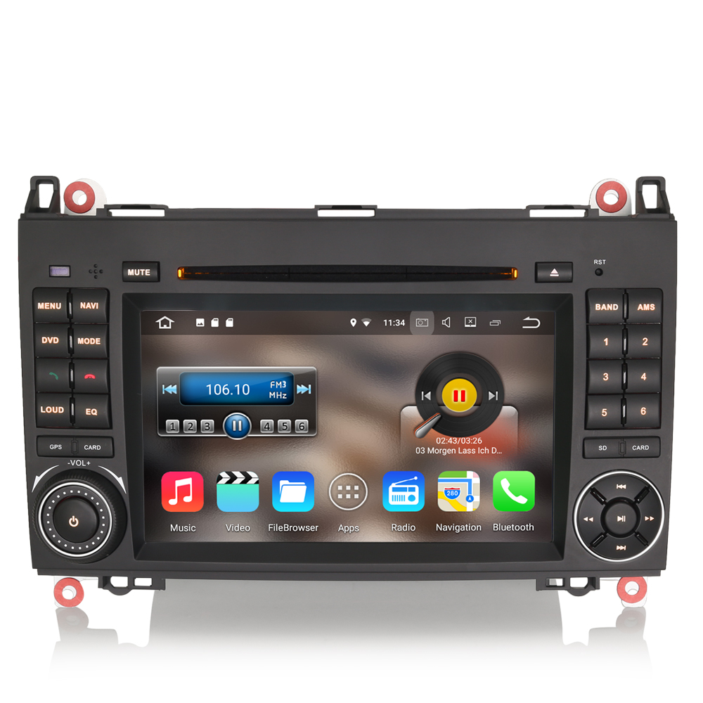android 7 1 autoradio dab dvd cd wifi dtv car gps. Black Bedroom Furniture Sets. Home Design Ideas