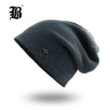 [FLB] Winter Hats For Men Beanies Bonnet Knitted Me