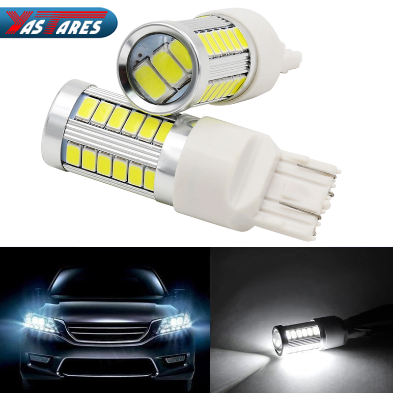 T20 7443 <font><b>W21</b></font>/<font><b>5W</b></font> 33 SMD 5630 5730 LED Auto Brake Lights 21/<font><b>5w</b></font> Car DRL Driving Lamp Stop Bulbs Turn Signals Red White Amber DC 12V image