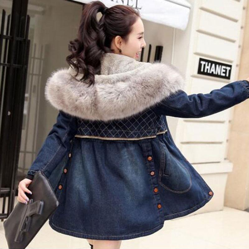 Veste Cachemire Épaissie Casual Manteau Agneau Chaud Vestes Femelle Plus 2018 Hiver Show Slim Base Z5887 Coton Laine Taille As Denim De Femmes La tv6Az