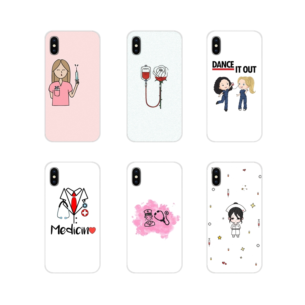 022fg Cartoon Medicine Nurse Doctor Soft Silicone Tpu Cover Phone Case For Samsung J3 J5 J7 2016 2017 J330 J2 J6 Plus 2018 Less Expensive Half-wrapped Case