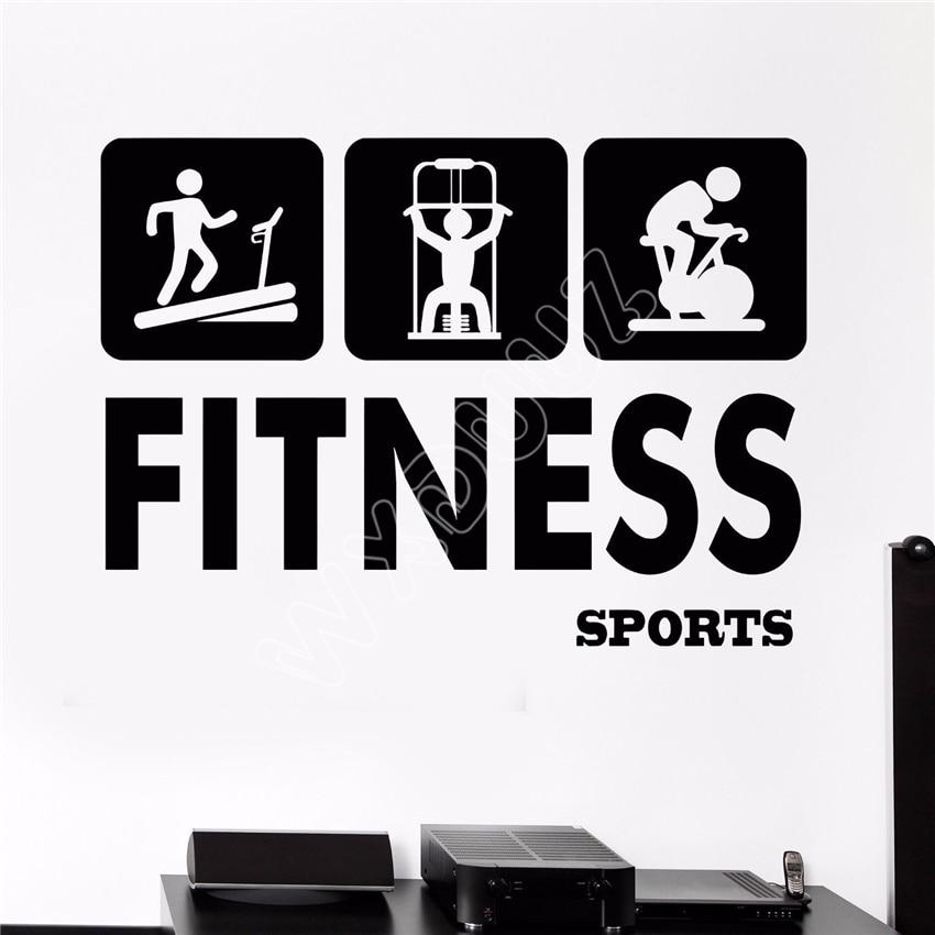 wxduuz vinyl wall decal gym fitness sports health beauty signboard