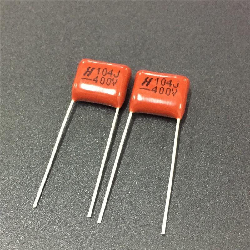 20pcs CBB Capacitor 104 400V 104J 0.1uF 100nF P10 CL21 Metallized Polypropylene Film Capacitor