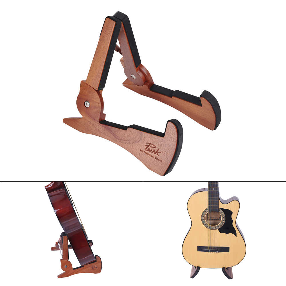 العالمي طوي حامل جيتار حامل الماهوجني خشب متين سلسلة أداة قوس لطيف شكل أرنب ل القيثارات الكهربائية