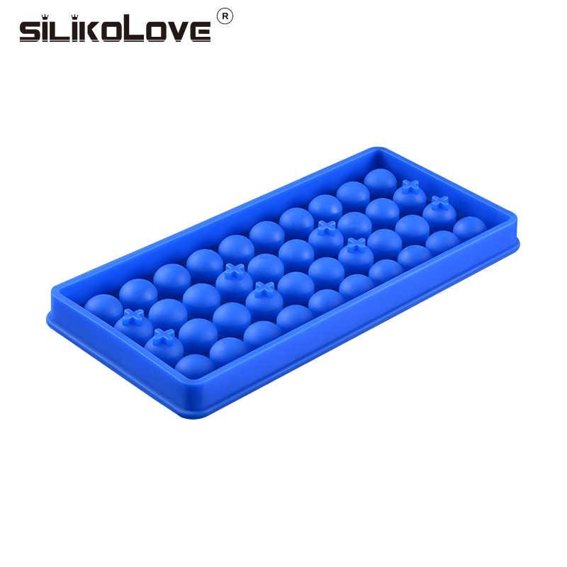 SILIKOLOVE 1 шт Мини силиконовая для кубиков льда плесень мяч чайник мяч площади виски винный коктейль Вечерние Барные аксессуары BPA бесплатно