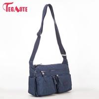 TEGAOTE Luxury Women Messenger Bag Nylon Shoulder Bag Ladies Bolsa Feminina Waterproof Travel Bag Women S