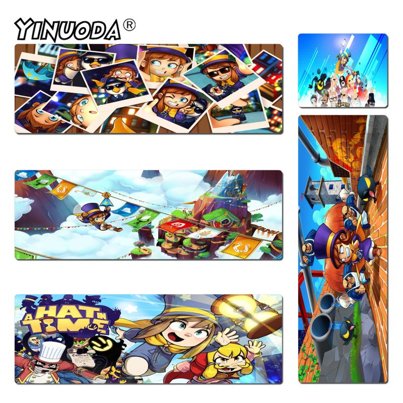 Yinuoda Hot Sales A Hat in Time Backgound Anti-Slip Durable Silicone Computermats Size 18x22cm 20x25cm 25x29cm 30x60cm 40x90cm