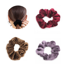 Women Hair Accessories Girls Hairbands Velvet Elastic Ropes No Crease Ties