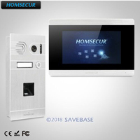 HOMSECUR 7 Wired Video&Audio Home Intercom+Fingerprint Camera+Touch Screen Monitor For Apartment