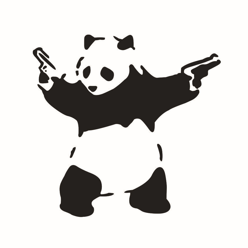 Bumper sticker creator canada - Otokit 3d Animal Pattern Funny Cute Panda With Guns Vinyl Jdm Decal Auto Car Window Vehicle