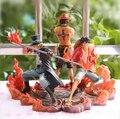 Nueva caliente 3 unids/set 14 - 17 cm una pieza del mono D Luffy ace Sabo coleccionistas figura de acción juguetes juguete navidad