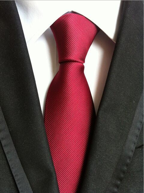 RBOCOTT Black Plain Ties 8 Cm Men's Classic Solid Tie Blue Red Wedding Necktie Fashion Purple Neck Ties For Formal Business