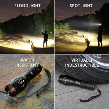 Anpro XML T6 Led Flashlight Q5 Mini Torch Lanterna Tactical Flashlight Zoomable Waterproof Protable Outdoor Camping Bike Light 6