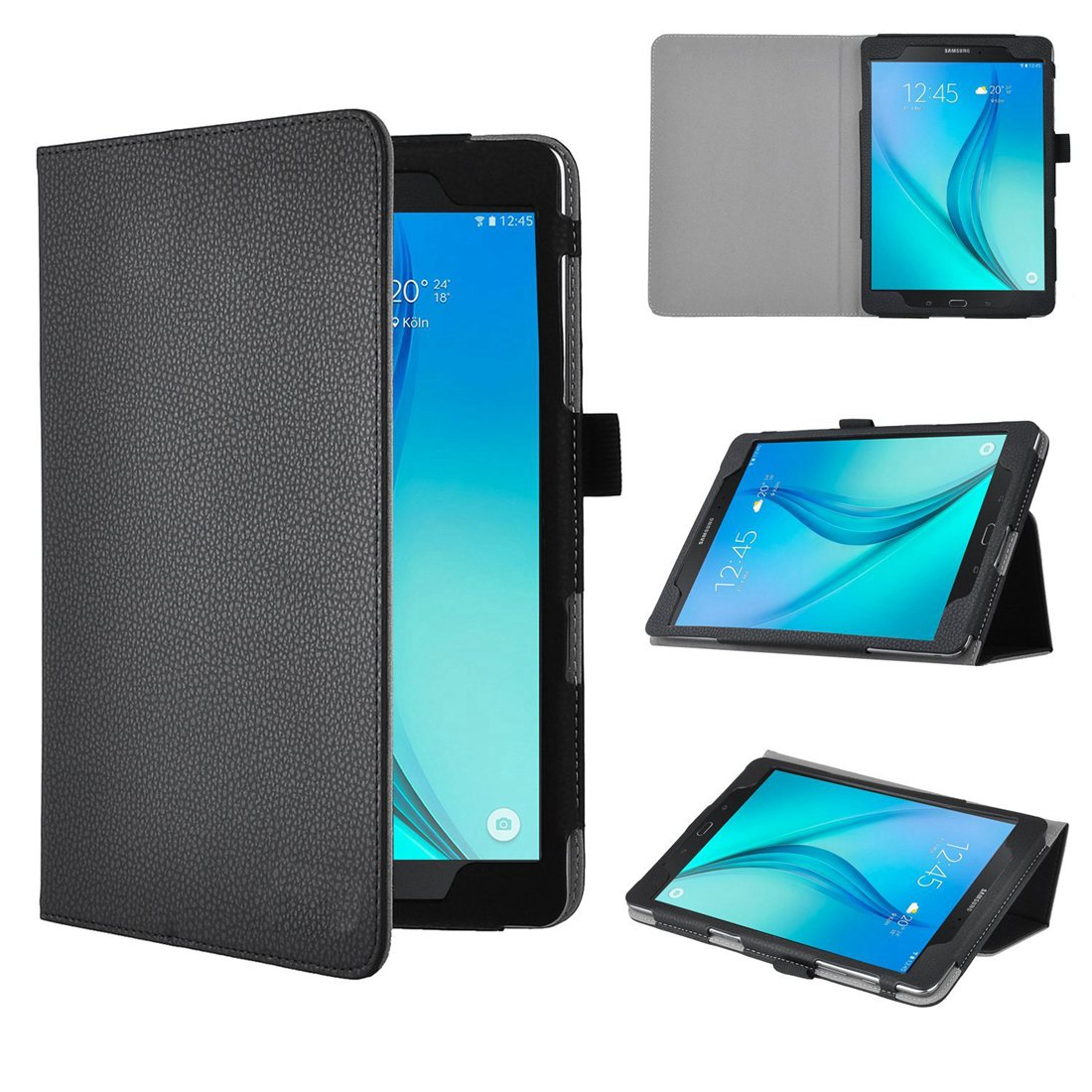 For Samsung Galaxy Tab S2 Nook 9.7-Inch Case - Ultra-Slim and Ultra-light PU Leather Folio Slim-Book Case Stand Cover slim fit stand feature folio flip pu hybrid print case for lenovo tab 3 730f 730m 730x 7 inch