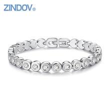 Женский теннисный браслет zindov из нержавеющей стали цвета