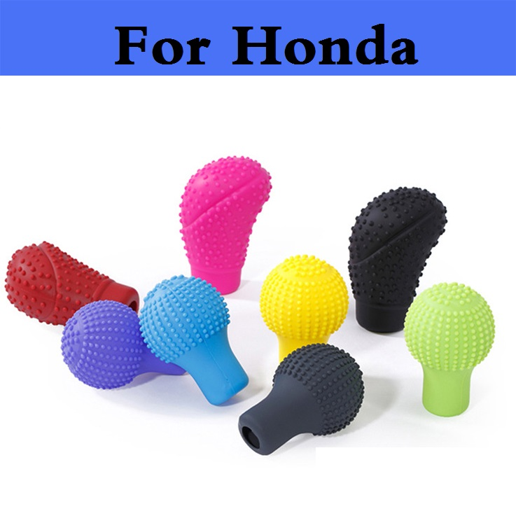 Car-Styling Auto Silicone Gear Shift Head Cover Protector For Honda FCX Clarity Fit Fit Aria HR-V Insight Inspire Integra Jazz