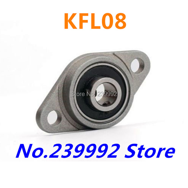 Wholesale of 4 pcs 8 mm diameter zinc alloy bearing housings KFL08 flange bearing housings with pillow block