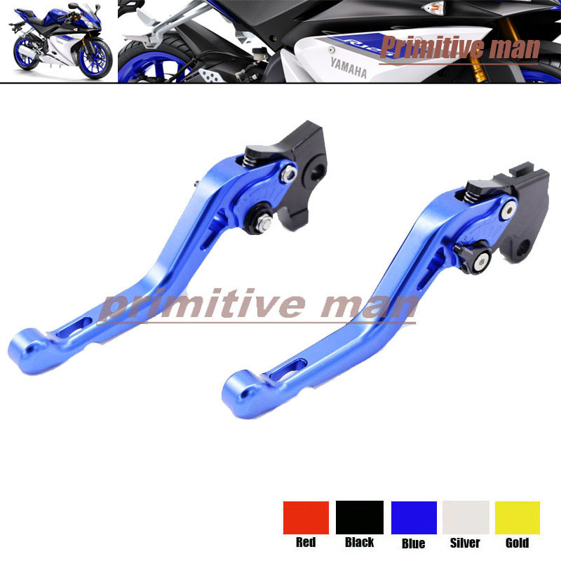ФОТО For YAMAHA YZF R125 2012-2013 Motorcycle Short Brake Clutch Levers Blue
