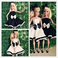 2016 Unique Style Fashion Formal Doll Dresses Evening  Black/White Wedding Dress For Doll