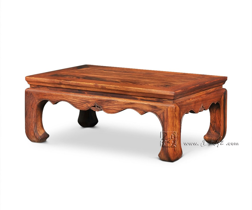 Solid Wood short-legged Table for bed Small Tea Tables Bay window low dining desk Rosewood Sofa Coffee kang Table Classic Teapoy