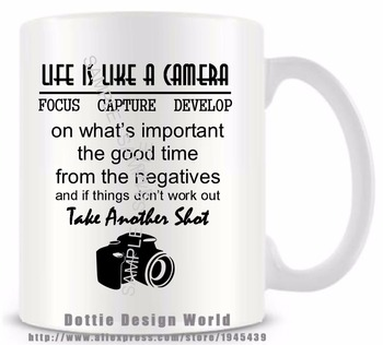 Online shop only the best dad get promoted to grandad funny seller recommendations diy life is like camera quote funny novelty travel mug ceramic white coffee tea milk cup negle Choice Image