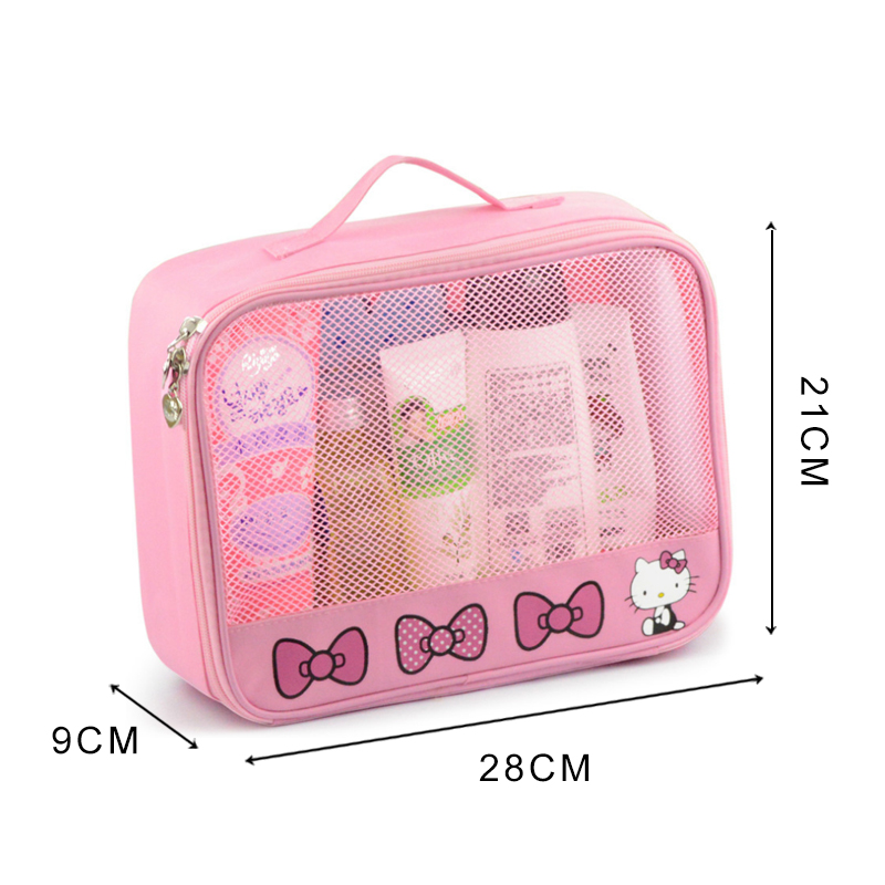 83bb48f7f114 Hello Kitty Women Cosmetic Bags Waterproof Toiletry Portable Travel Wash  Makeup Storage Pouch For Underwear Suitcase Organizer -in Cosmetic Bags    Cases ...
